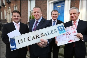 Left to Right: Cathal Cremen, Commercial Manager Done Deal, James Brooks SIMI President, Jim Power Economist, Alan Nolan Director General SIMI