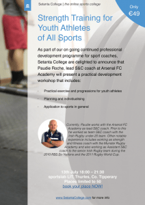 Strength Training for the Youth Athlete - Workshop