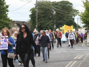 Nenagh Holds March Against Water Taxes