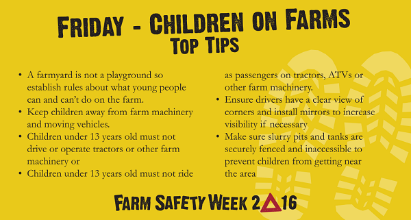 Farming Is Not Childs Play – The Message For The Final Day Of Farm Safety Week