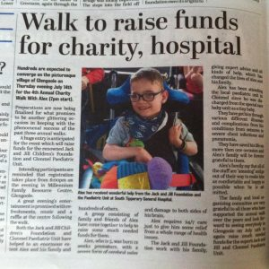 Charity walk with Alex