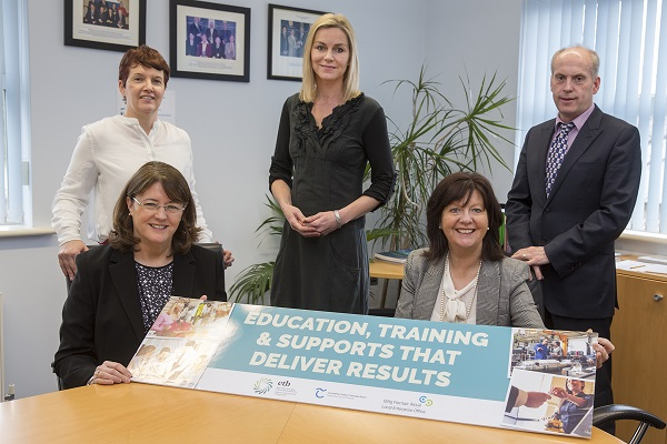 Pictured at the launch of the Training & Development Needs research study are left to right standing Ita Horan, Local Enterprise Office Tipperary, Annmarie Coonan, Marla Communications, Matthew Ryan, Tipperary Education & Training Board, seated Fionnuala McGeever, CEO, Tipperary Education & Training Board and Rita Guinan, Head of Enterprise Tipperary. Absent from the photo Eileen Condon, Director of Further Education and Training, Tipperary ETB.