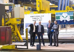 ICG Cuts First Steel For New €144 Million Irish Ferries Cruise Ferry