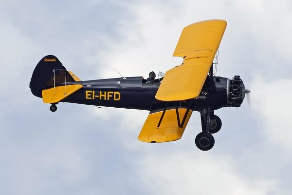 Boeing Stearman of the Irish Historic Flight. Malcolm Nason. https://flyinginireland.com/2017/07/foynes-airshow-photos/