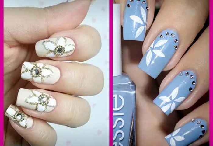 Diseños De Uñas Decoradas Con Flores Nails Art Decoración Con Flores