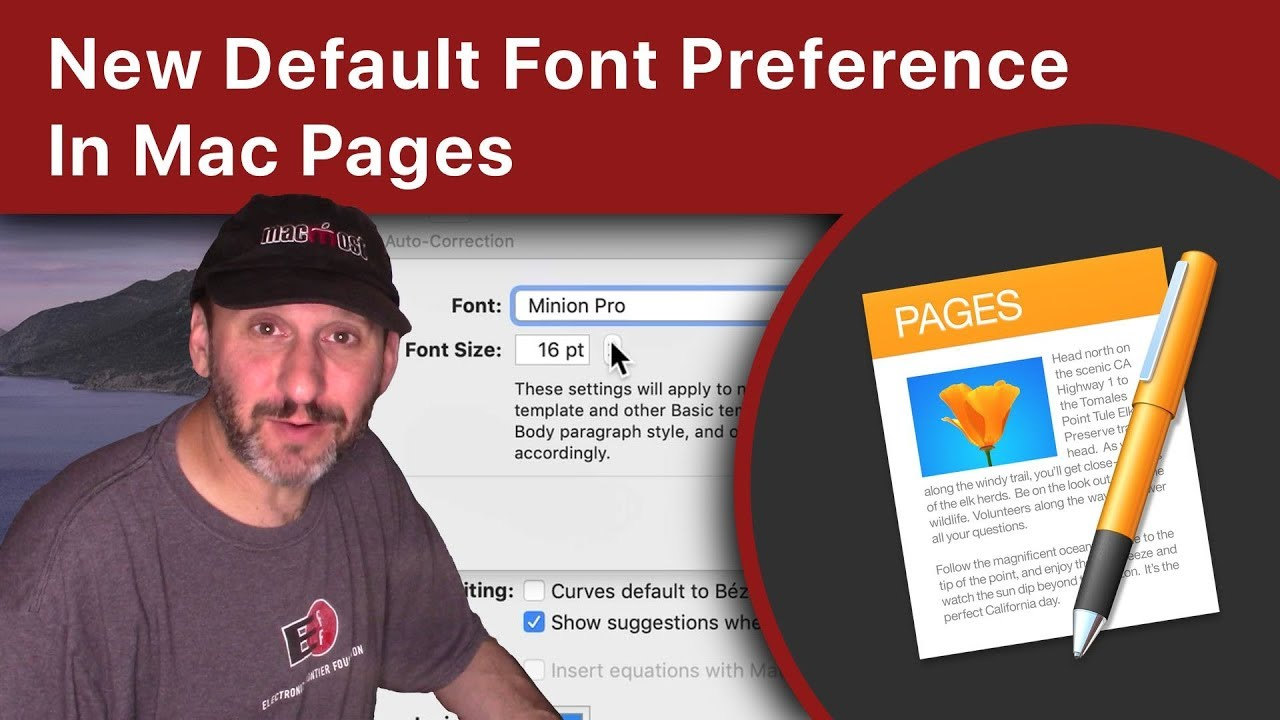 New Default Font Preference in Mac Pages