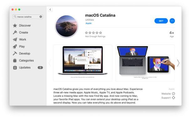 MacOS Catalina on Mac App Store
