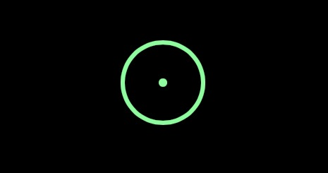 The green dot pointer cursor of mouse on iPad