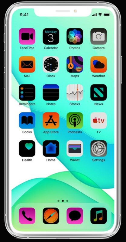 Example picture of an inverted iPhone screen