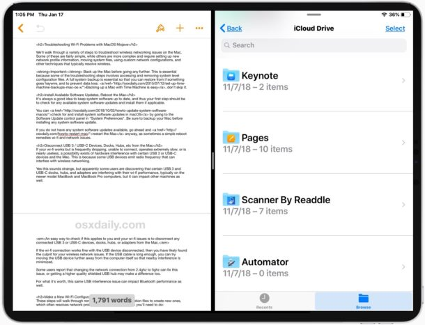 How to Split Screen apps on iPad