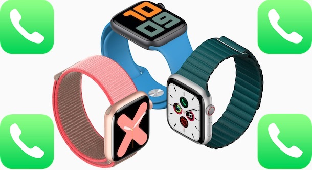Apple Watches with phone icon