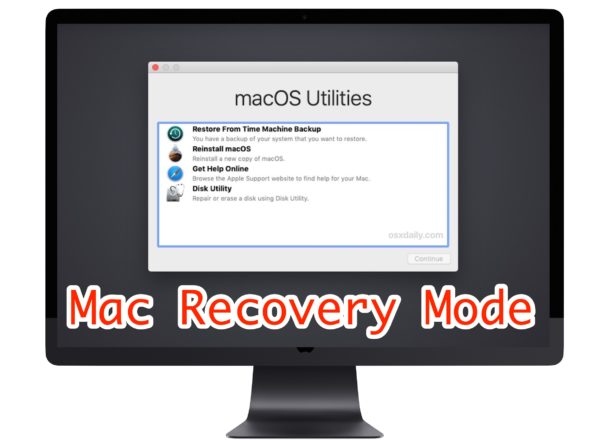How to start a Mac in Recovery mode
