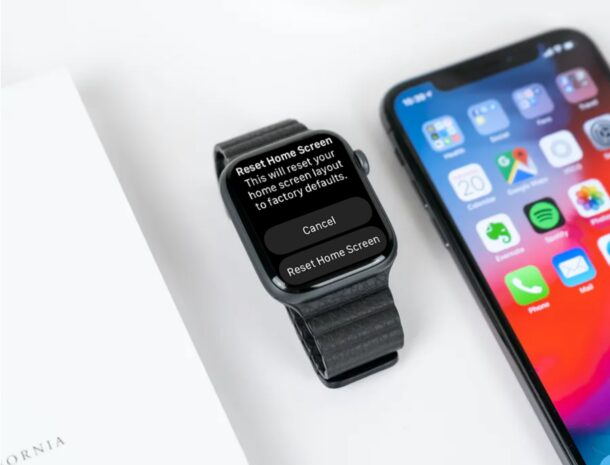 How to Reset Home Screen Layout on Apple Watch
