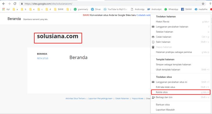 Temukan Cara Membuat Google Site mudah
