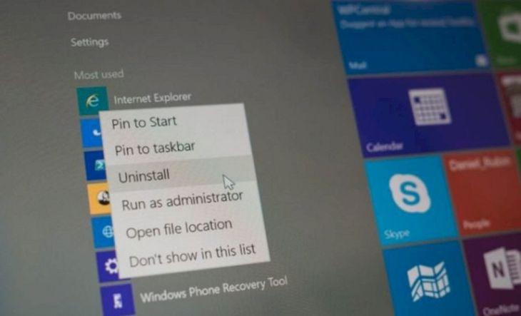 Cara Uninstal Aplikasi di Windows 10