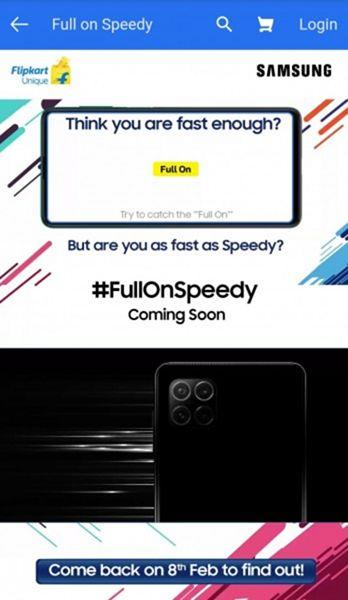 Samsung Galaxy F Series Pada laman Flipkart
