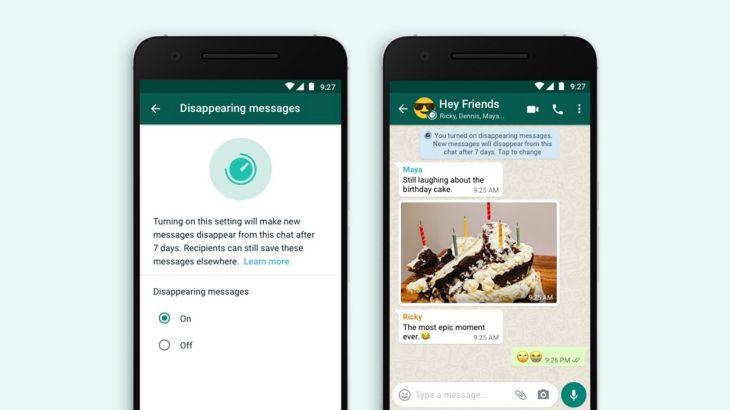 Cara Buat Pesan WhatsApp Hilang Otomatis Setelah 7 Hari