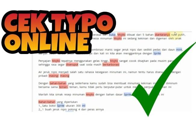 Cara Cek Typo Secara Online