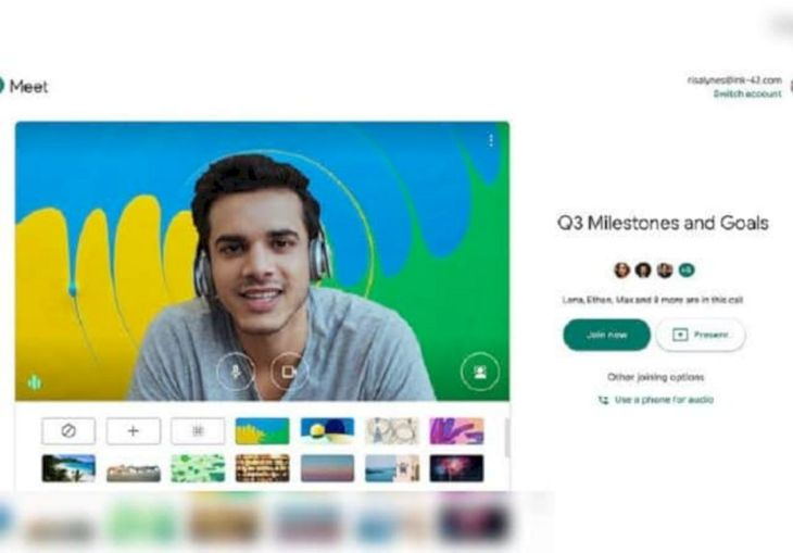 Cara Mengubah Background Google Meet