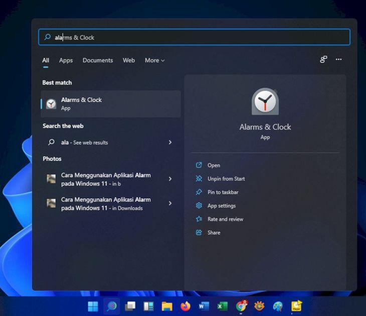 Cara Menggunakan Aplikasi Alarm pada Windows 11