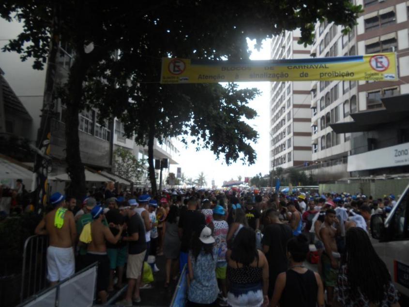 Folla per il Carnevale di Rio de Janeiro