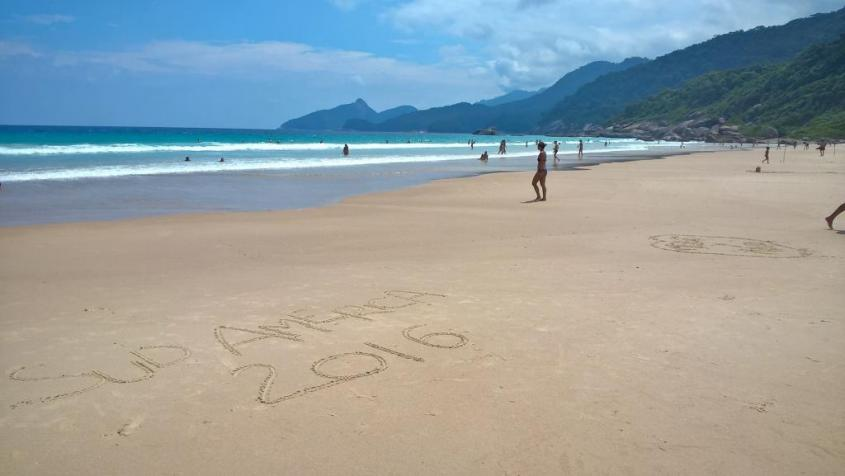 Spiaggia Lopes Mendes nell'isola Ilha Grande in Brasile