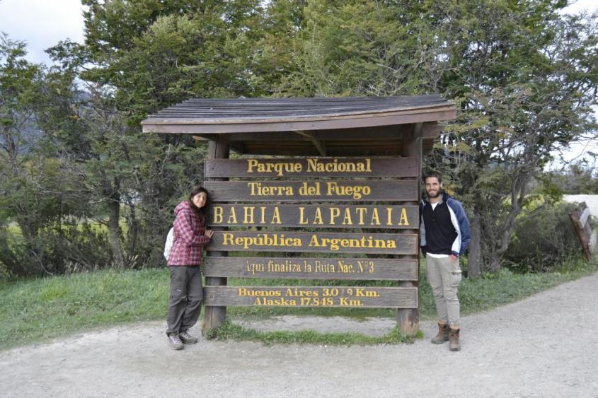 Parco Nazionale Tierra del Fuego ad Ushuaia fine Ruta 3