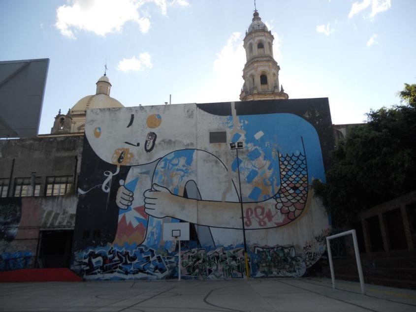 Muralse nel centro storico di Buenos Aires