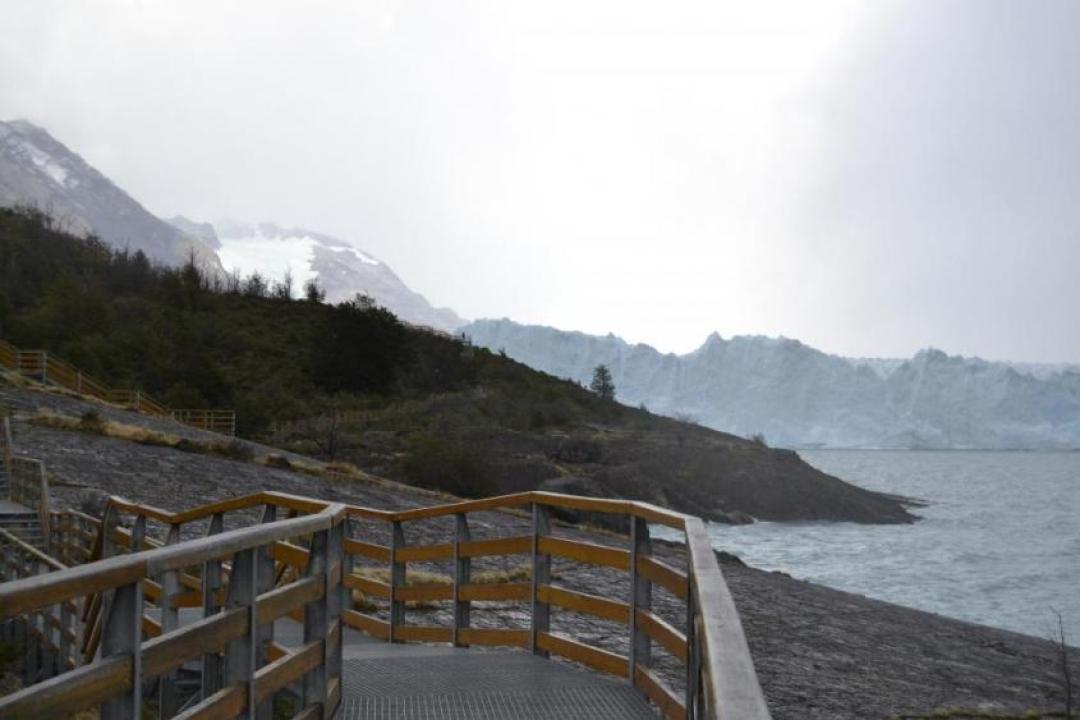 Percorso per il ghiacciaio Perito Moreno a El Calafate nella Patagonia argentina
