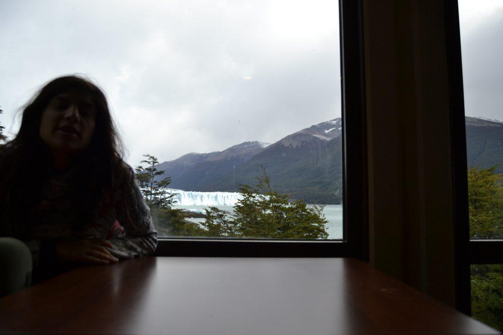 Vista dal Bar Ristorante del Parco ghiacciaio Perito Moreno