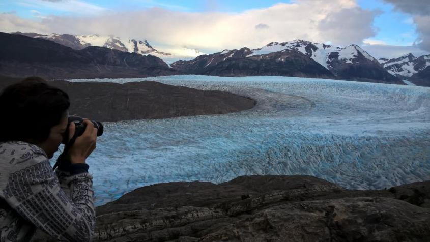 "Ghiacciaio Grey al trekking ""W"" nel Parco Nazionale Torres del Paine in Cile"