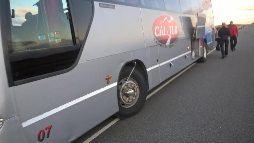 Problema al bus da El Calafate a El Chalten