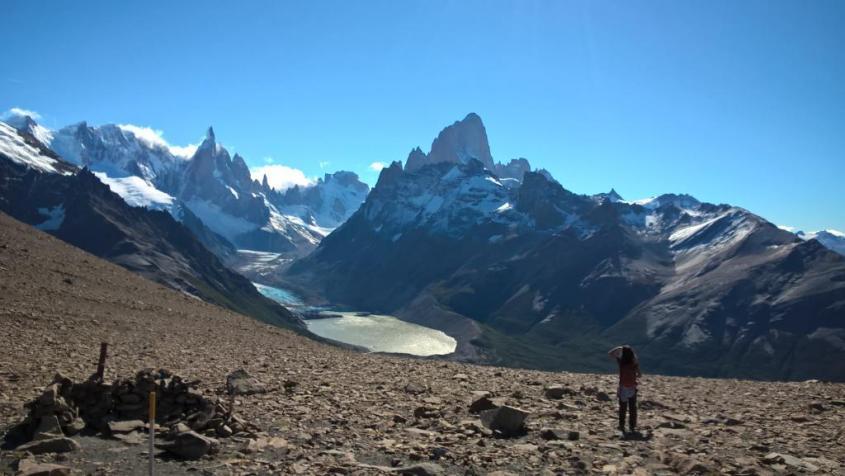 Punto panoramico trekking Loma del pliegue Tumbado a El Chalten