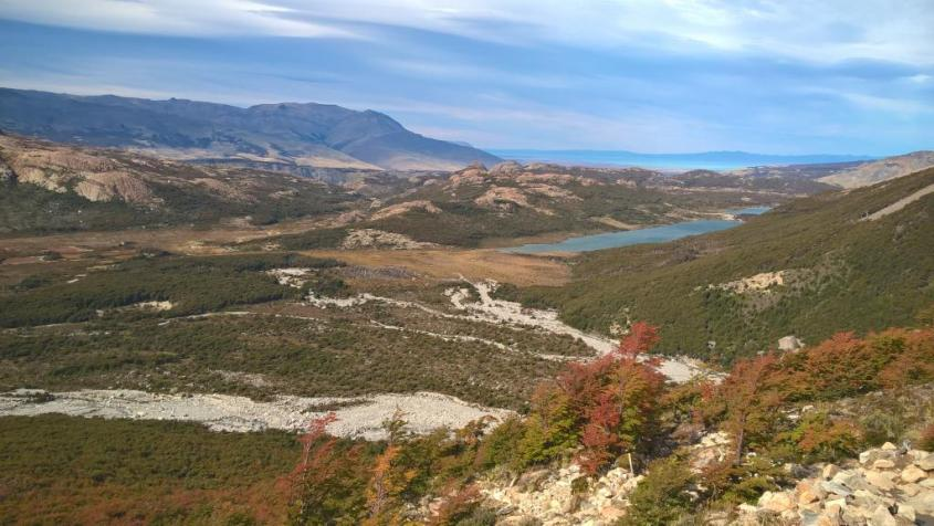 Paesaggi del Trekking al Sendero Fitz Roy di El Chalten Patagonia Argentina