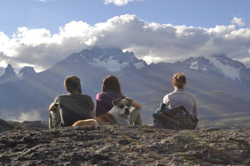 Punto panoramico con Vista Cerro Castillo in Cile