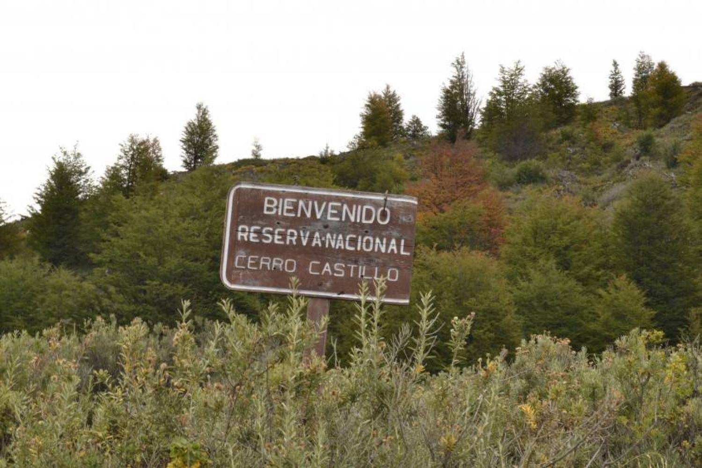 Cartello di entrata alla Riserva Nazionale Cerro Castillo