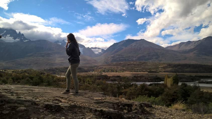 Percorso con vista e punto panoramico sul Cerro Castillo in Cile