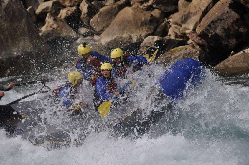 Rafting su gommone a Futaleufu in Cile