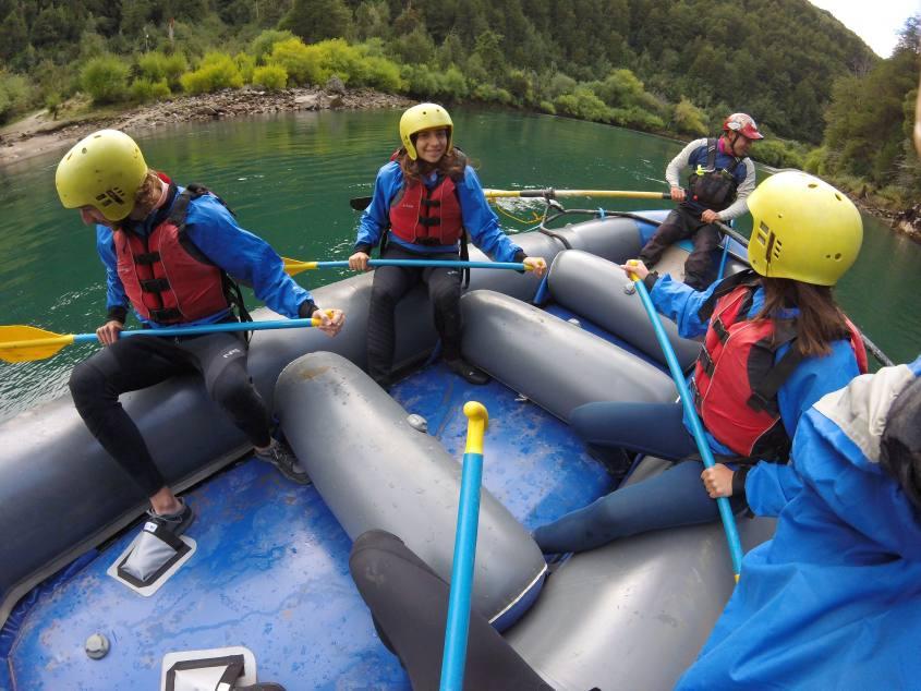 Rafting a Futaleufu in Sud America, Cile