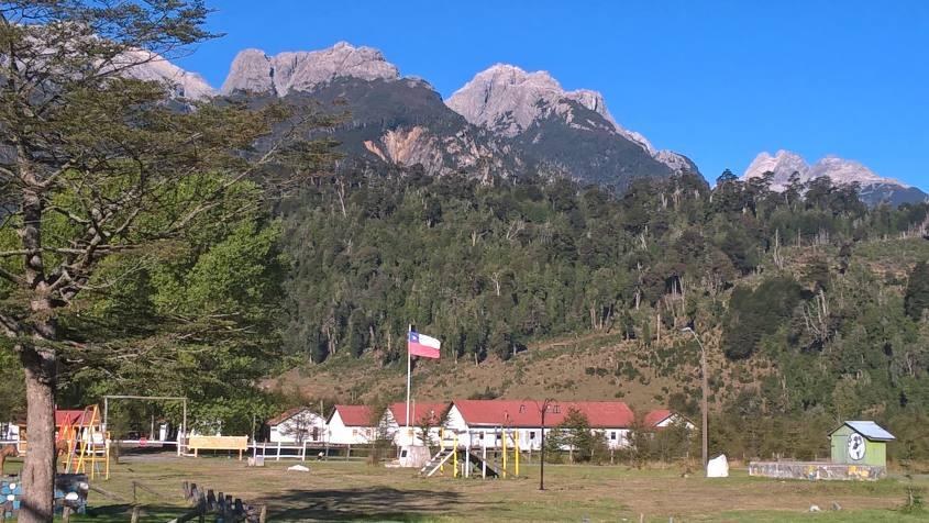 Villa Santa Lucia sulla Carrettera Austral in Cile