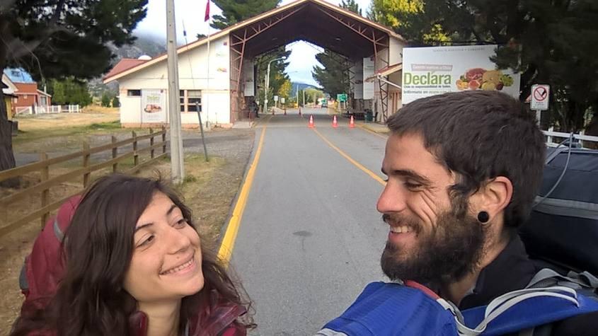 Passando la frontiera Cile-Argentina a piedi