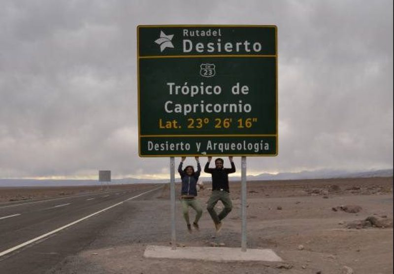 Cartello Tropico del Capricorno a San Pedro de Atacama
