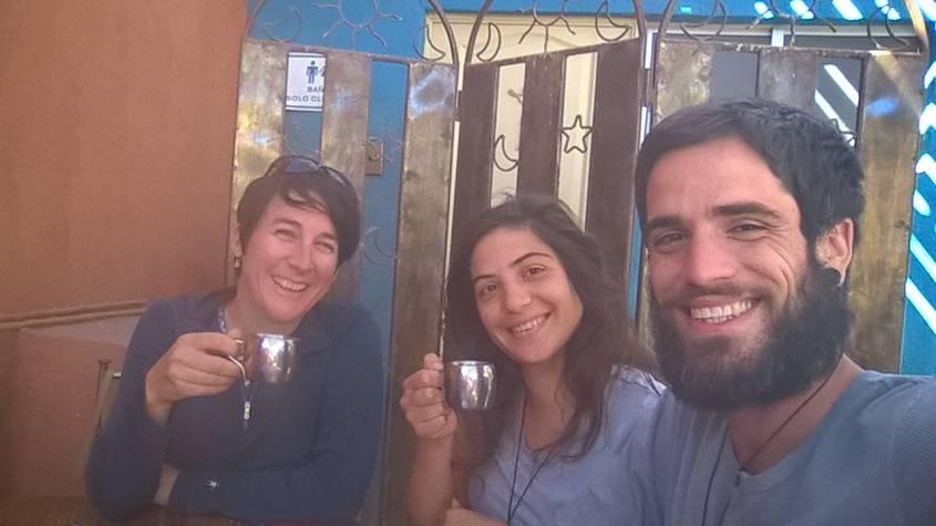 Pausa caffè ad un bar nel centro di San Pedro di Atacama