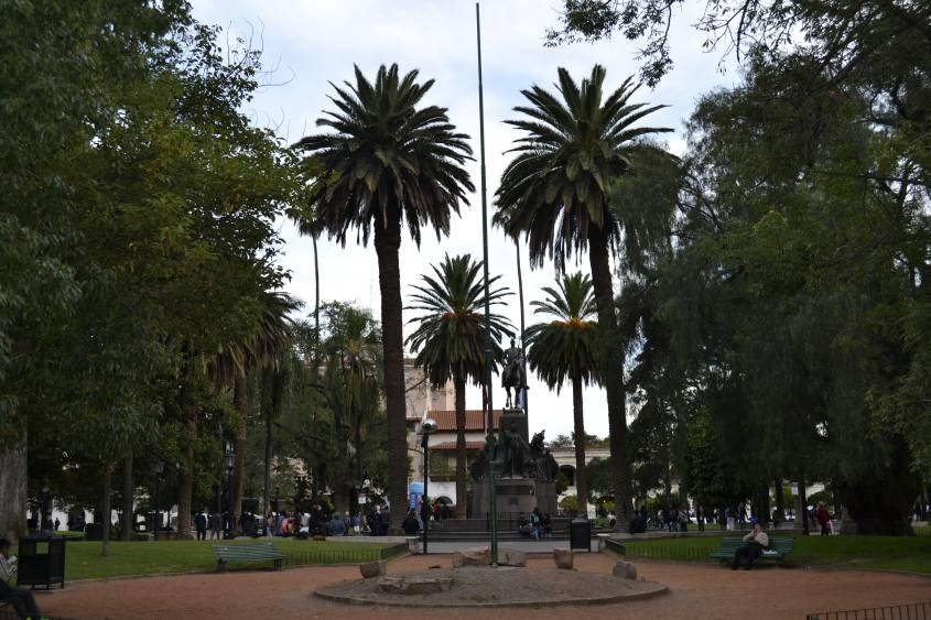La piazza centrale del centro storico di Salta la Linda in Argetina