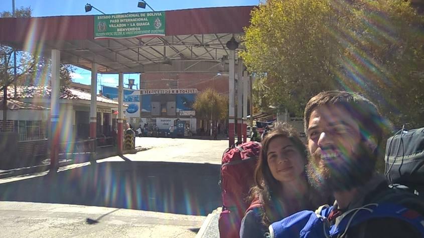 Passaggio del confine tra Argentina e Bolivia a piedi