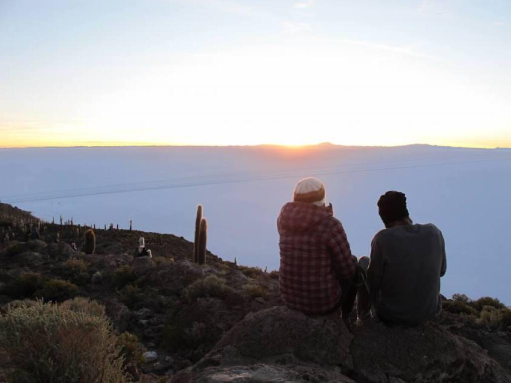Il Salar di Uyuni dall'Isla Incahuasi