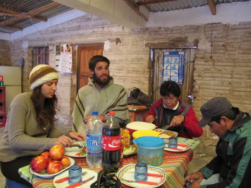 Pranzo finale del tour al Salar di Uyuni in Bolivia