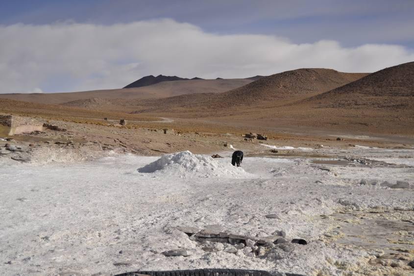 Laguna Kollpa durante il tour al Salar di Uyuni in Bolivia
