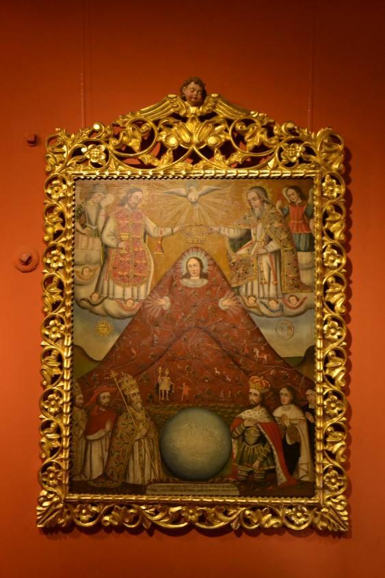Quadro all'interno del Museo della Casa della Moneta di Potosì in Bolivia