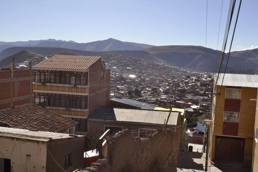 Vista dall'alto di Potosì in Bolivia